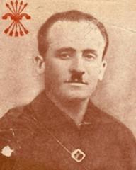 El escuadrista y fundador del grupo Primera Línea de Falange, Juan Canalejo Castel. Fue quien dirigió y formó a los asesinos que actuaron en A Coruña tras la sublevación de julio de 1936.