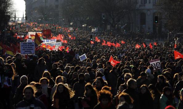 Una de las más hermosas imágenes que hoy se han vivido (foto tomada en Madrid)