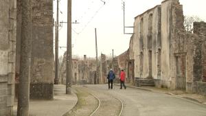 Calle principal de Oradour, hoy convertido en ciudad museo de la memoria