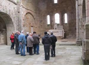 Interior de la Iglesia de Oradour donde murieron asesinadas las mujeres y niños de la localidad.