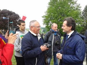 Floren Dimas (Archivo Guerra y Exilio AGE - Murcia) y José María Valdemoro, Embajada de España en Austria, 12 de mayo de 2013)