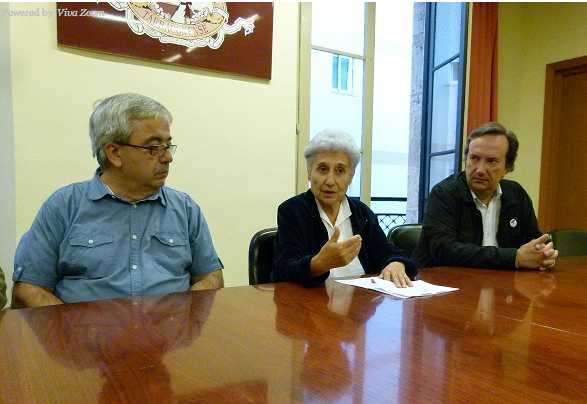 D'esquerra a dreta, Xavier Tolosana, Teresa Fortuny i Pedro García Bilbao
