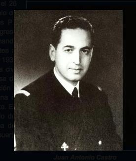 Juan Antonio Castro Eizaguirre (1911-1994), en uniforme de la Armada Francesa