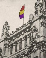 Palacio de Telecomunicaciones (Correos y Telégrafos), en Cibeles, Madrid, a las 14.00 del día 14 de abril de 1931