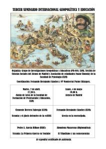 TERCER SEMINARIO INTERNACIONAL GEOPOLÍTICA EDUCACIÓN