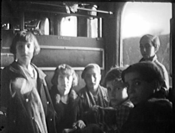 Los niños españoles de Dinamarca - En el tren