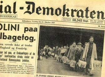 Los niños españoles de Dinamarca - Prensa danesa 1937