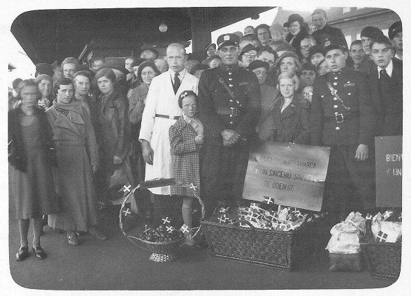 Los niños españoles de Dinamarca - Recibimiento en Odense