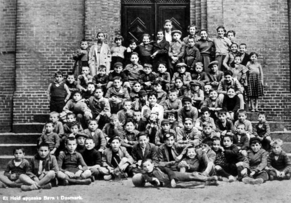 Los niños españoles de Dinamarca - Retrato en grupo